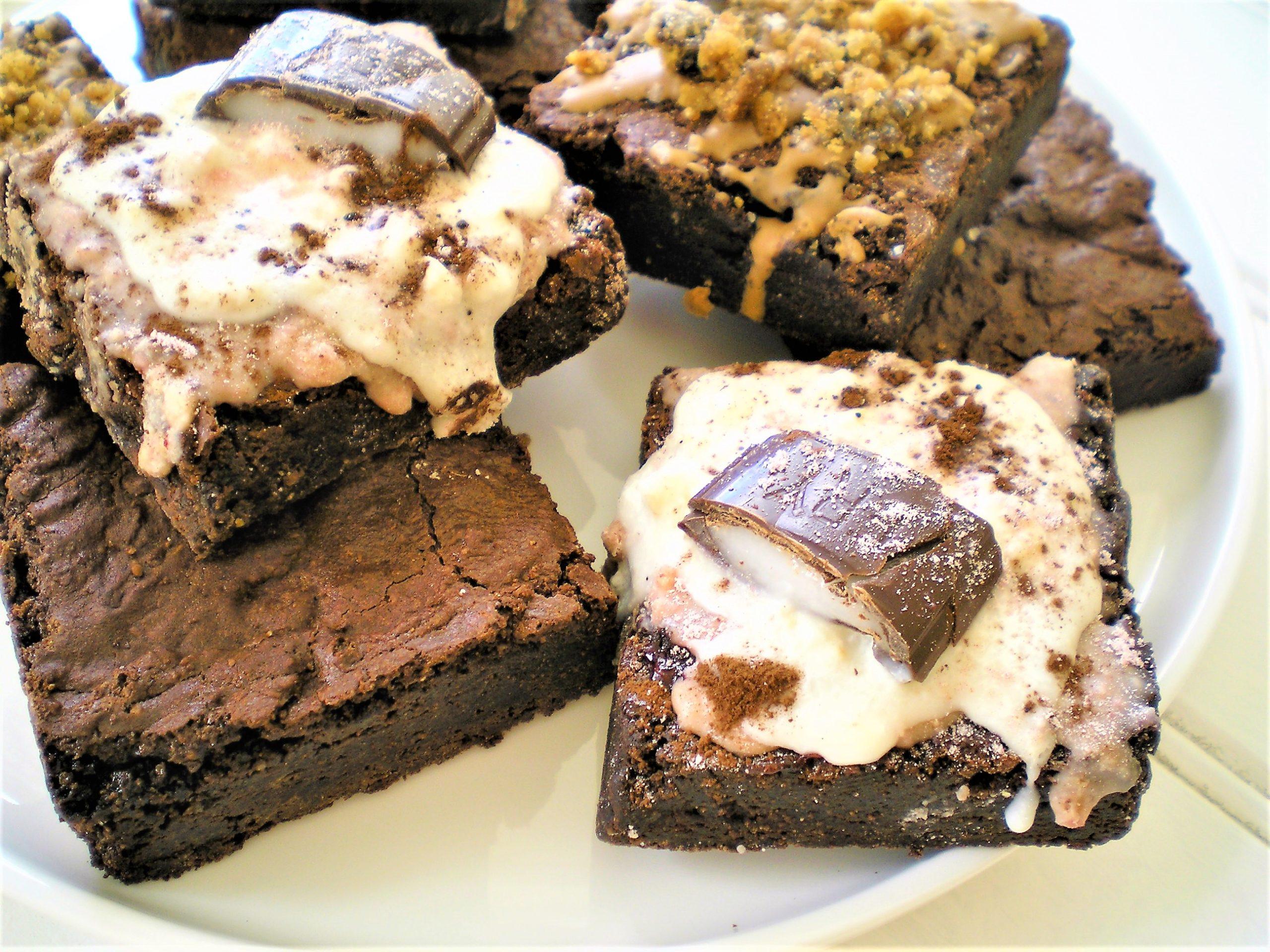 salted caramel vegan brownie