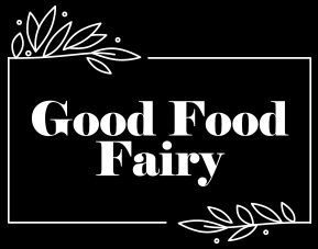 Good Food Fairy logo on black