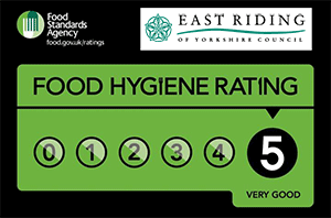 Good Food Fairy has a 5 start hygiene rating
