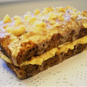 Frosted carrot cake